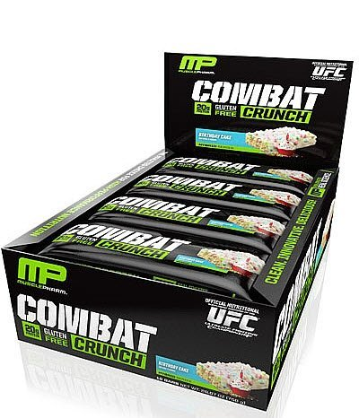 Muscle Pharm Combat Crunch Bars, Birthday Cake, 12 Count, Net Wt. 26.67 Ounce (Quest Bar One compare prices)