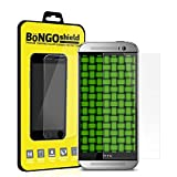 BinTEK Bongo Shield HTC One M8 PREMIUM Ballistic Tempered Glass Screen Protector - World Class Protection Against Drops, Impacts and Scratches / Compatible with AT&T, T-Mobile, Sprint, Verizon Models