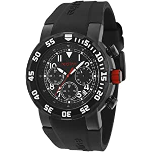 red line Men's RL-50027VD-BB-01W RPM Chronograph Black Dial Black Silicone Watch