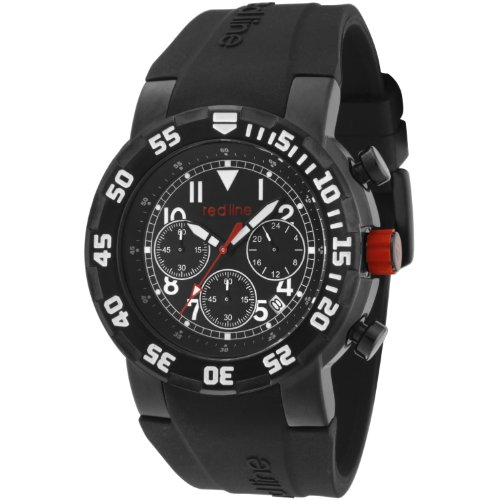 Red Line RPM 50027VD-BB-01W 47 Stainless Steel Case Black Band Mineral Men's Quartz Watch