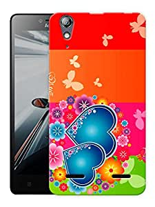 "Humor Gang Multicolor Hearts Printed Designer Mobile Back Cover For ""Lenovo A6000 - A6000 PLUS"" (3D, Matte, Premium Quality Snap On Case)"