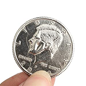WHATWEARS 1x Close Up Street Magic Trick Bite Coin and Restored Half Dollar Illusion