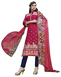Sheknows Fuchsia Poly Cotton Kameez with Straight Pant