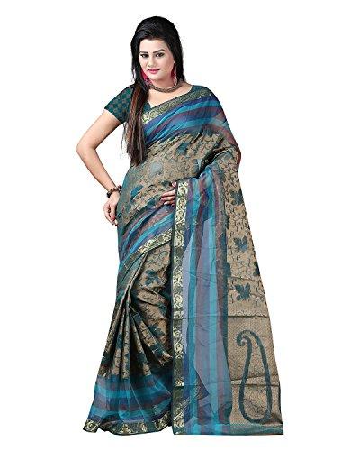 Sai Krupa Silk Women's Silk Brocade Sarees(Beige