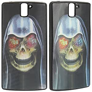 DMG Premium 3D TPU Protective Back Cover Case for OnePlus One (Skull)