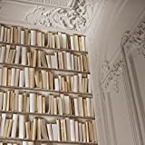 IVORY BOOKSHELF WALLPAPER