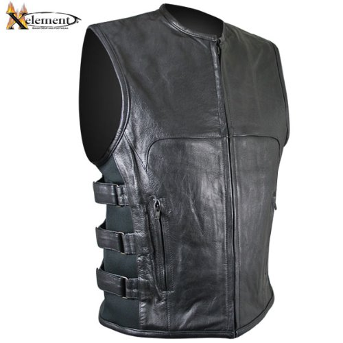 Xelement Mens Advanced Triple Strap Design Motorcycle Vest