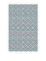 Huella deco Alfombra de Vinilo (Azul/Multicolor)