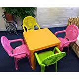 Childrens Foldable Table and 4 Chairs