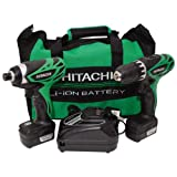 Hitachi KC10DFL 10.8-Volt Li-Ion Micro Driver Drill (Twin Pack)