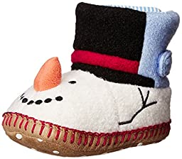 Hanna Andersson Snowman 1 Slipper (Toddler/Little Kid/Big Kid), White, 9 M US Toddler