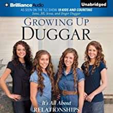 Growing Up Duggar: It's All About Relationships (       UNABRIDGED) by Jana Duggar, Jill Duggar, Jessa Duggar, Jinger Duggar Narrated by Jana Duggar, Jill Duggar, Jessa Duggar, Jinger Duggar