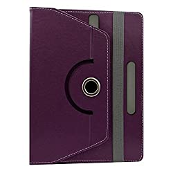 Gadget Decor (TM) PU LEATHER Rotating 360° Flip Case Cover With Stand For Anwyn AERO-AW-T702  - Purple
