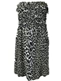 DEPT Womens Strapless Dress Large Leopard Print