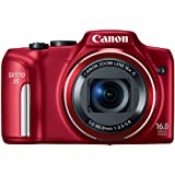 Canon PowerShot SX170 IS 16.0 MP Digital Camera, Red (discontinued by manufacturer)