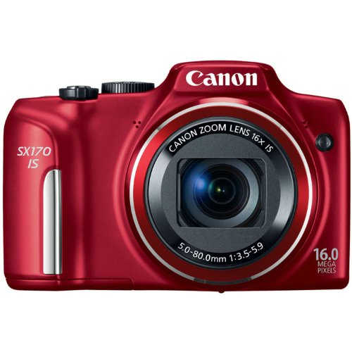 51LwvXXZJbL Canon PowerShot SX170 IS 16.0 MP Digital Camera with 16x Optical Zoom and 720p HD Video (Red)