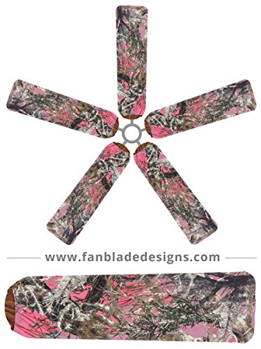 Ceiling Fan Blade Covers, Pink