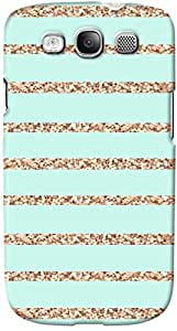 DailyObjects Glitter Stripes Mint Dense Case For Samsung Galaxy S3