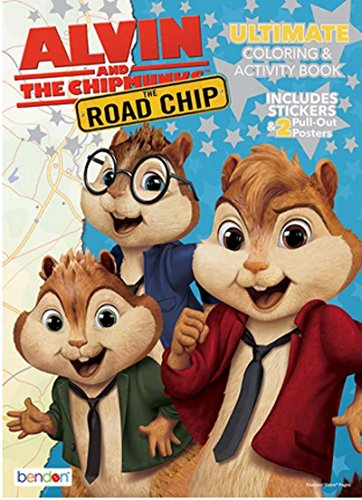 Alvin and the Chipmunks The Road Chip Ultimate Coloring and Activity Book - Includes over 30 Stickers and 2 Posters