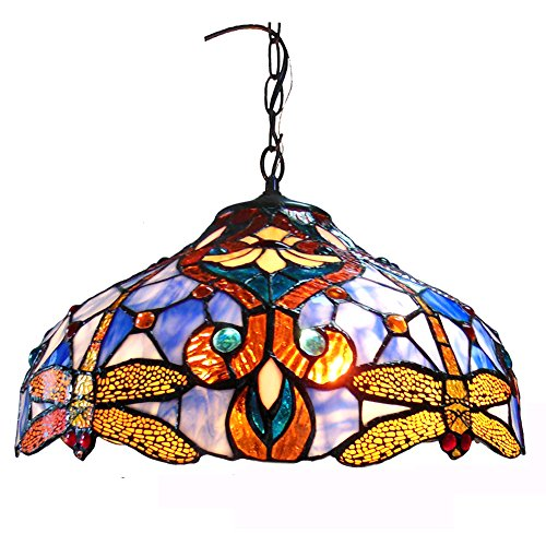 Cute  CHBBD DH Julia Tiffany Style Dragonfly Light Ceiling Pendant Fixture