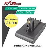 Flylinktech dyson ダイソン 互換 バッテリー DC34 DC35 DC31 DC44