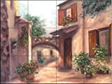 Southern Exposure II by Francesca Martinelli Tile Mural for Kitchen Backsplash Bathroom Wall Tile Mural