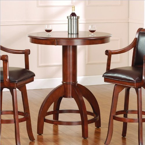 Hillsdale Palm Springs Bar Height Pub Table in Medium Brown Cherry