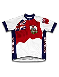 Bermuda Flag Short Sleeve Cycling Jersey for Women