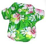 Casual Hawaiian Beach Green Floral Shirt Dog Clothes For Cat Dog Puppy Pet (2)