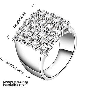 Happy Gogou Cushion Halo Cubic Zirconia Engagement Ring for Women (8)