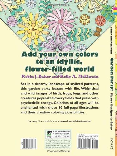 Garden Party! (Dover Nature Coloring Book)