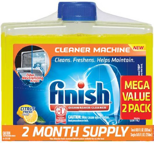 Finish Dishwasher Cleaner, Citrus Scent, 2 Count front-535261