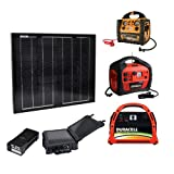 Instapark 30-watt Solar-powered Battery Charger for Instapark Mars20S, Duracell Powerpack Series & Wagan Power Dome Series, Connection Cables & Adapters Included