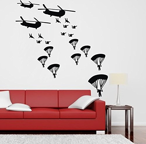Wall Decals Helicopter Sticker Art Decoration For Bathroom Nursery Room Boys Girls front-880418