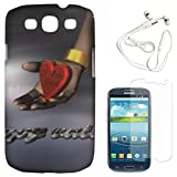 DMG Night Glow Hard Back Cover Case For Samsung Galaxy S3 Neo GT-I9300I (Heart) + White Earphones + Matte Screen...