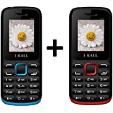 I KALL K11 Dual Sim Mobile Buy 1 Get 1 Free - Red & Blue