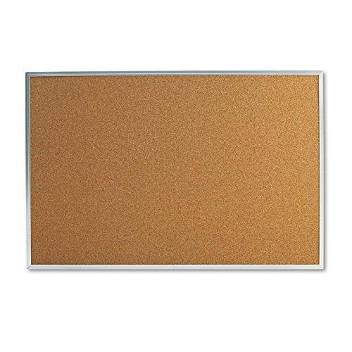 Universal 43613 Bulletin Board, Natural Cork, 36 x 24, Satin-Finished Aluminum Frame (24 X 36 Cork Board compare prices)