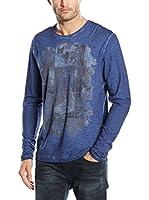 SIDECAR Camiseta Manga Larga Felix (Azul)