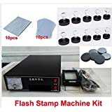 Tool Parts 220V Photosensitive Portrait Flash Stamp Machine Kit Self-inking Stamping Making Seal 10Pcs Holder Film Pad (NO Ink)