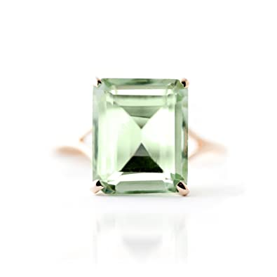 QP Jewellers Natural Green Amethyst Ring in 9ct Rose Gold, 6.50ct Octagon Cut - 2585R