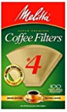 Melitta Cone Coffee Filters Natural Brown #4 Super Savings, 500 Count Package