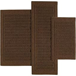 Mainstays Dylan Nylon Accent Rugs, Set of 3, Costa Brown