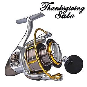 [Thanksgiving Sale]KastKing Kodiak Saltwater Spinning Reel - 39.5 LB Carbon Fiber Drag, All Aluminum, 10 + 1 Stainless Steel Shielded Bearings, Enhanced Stainless Steel Main Shaft