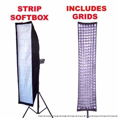 """Alienbees Softbox: 14x63"""" 35x160CM STRIP SOFTBOX SOFT BOX TANK + GRID"""