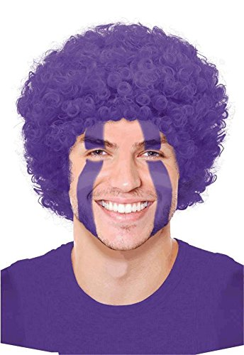 Purple Curly Wigs - 1