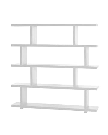 Moe's Home Collection 63 by 61-Inch Miri Large Shelf, White