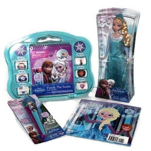 Disney Frozen Sparkle Princess Elsa Doll Singing Light-up Microphone