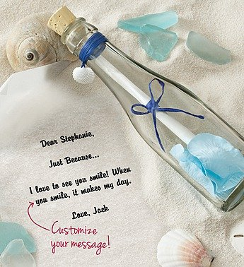 1-800-Flowers - Personalized Message In A Bottle Just Because - Blue By... front-841488