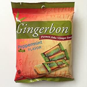 Gingerbon - Ginger Candy with Peppermint Flavor - 2 x 125 g / 2 x 4.4 oz - Original from