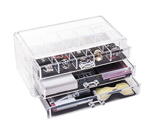 choice fun platz acryl 3 schubladen make up organizer kosmetik schmuck storage box mit. Black Bedroom Furniture Sets. Home Design Ideas